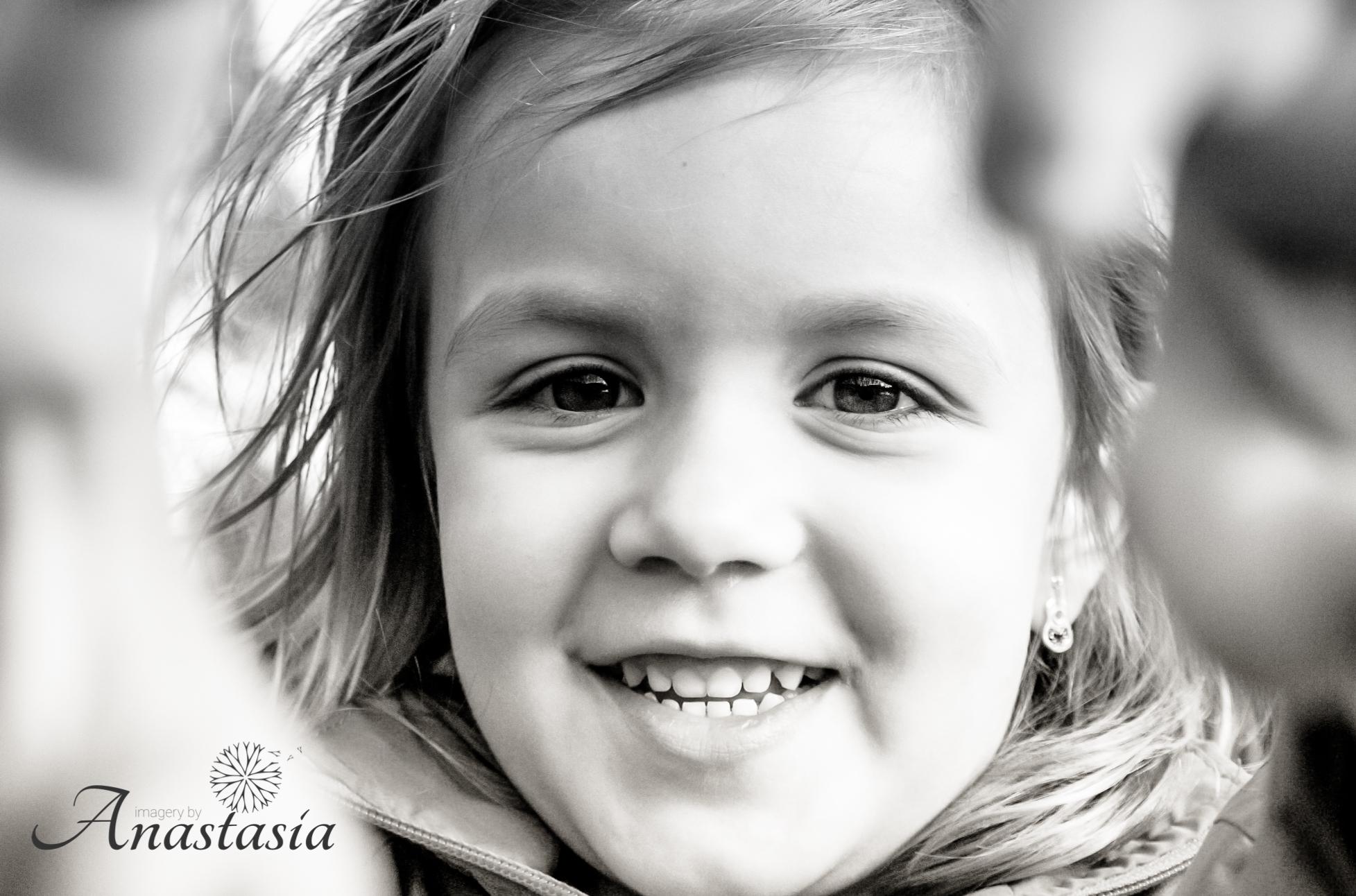 Little girl big smile