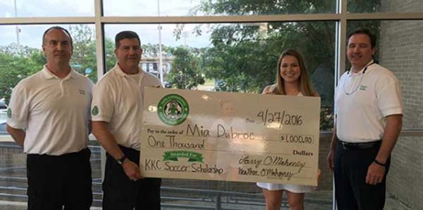 2016 Kelly Kicking Cancer Soccer Scholarship Recipient Mia Dubroc