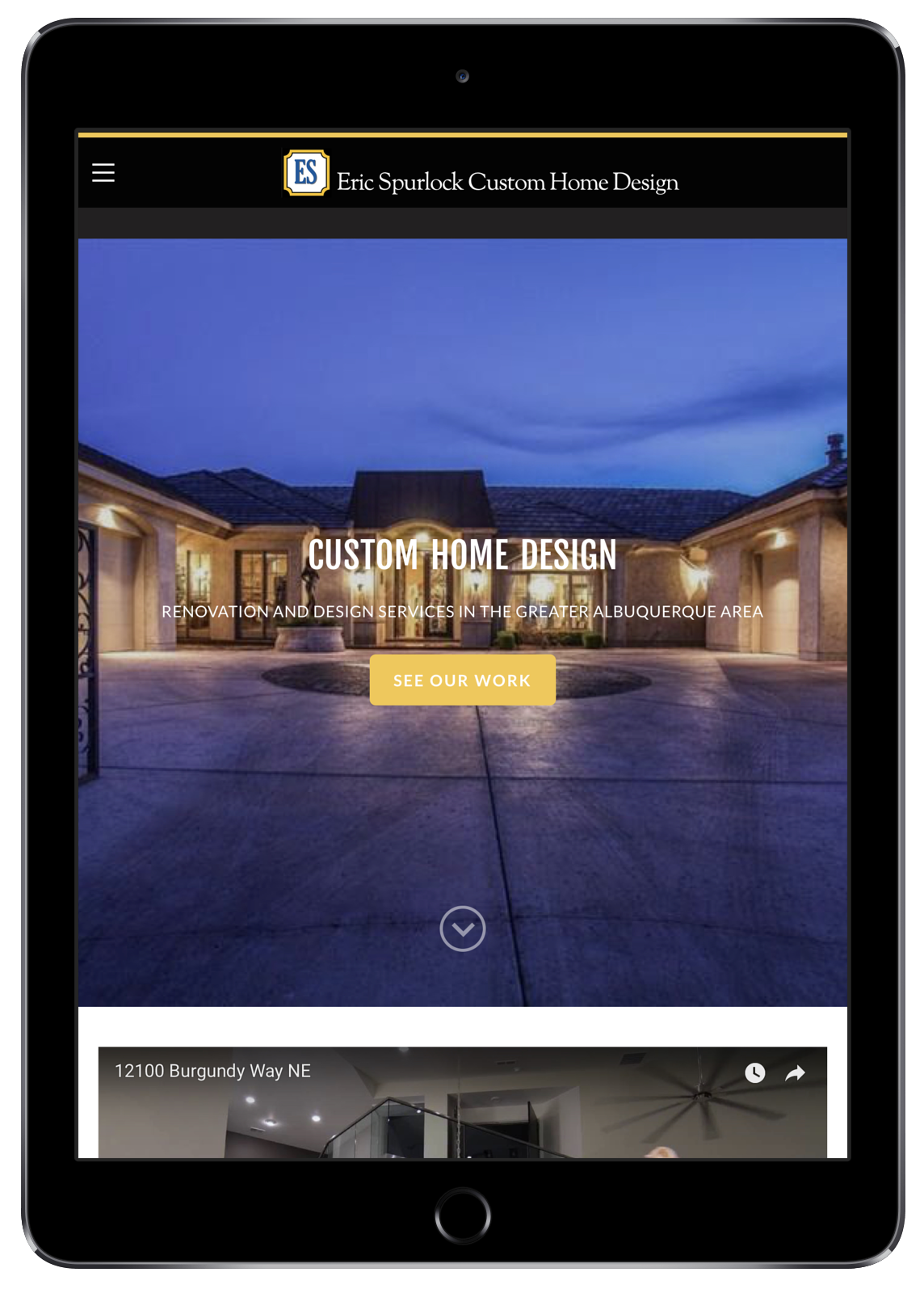 Eric Spurlock Custom Home Design on iPad