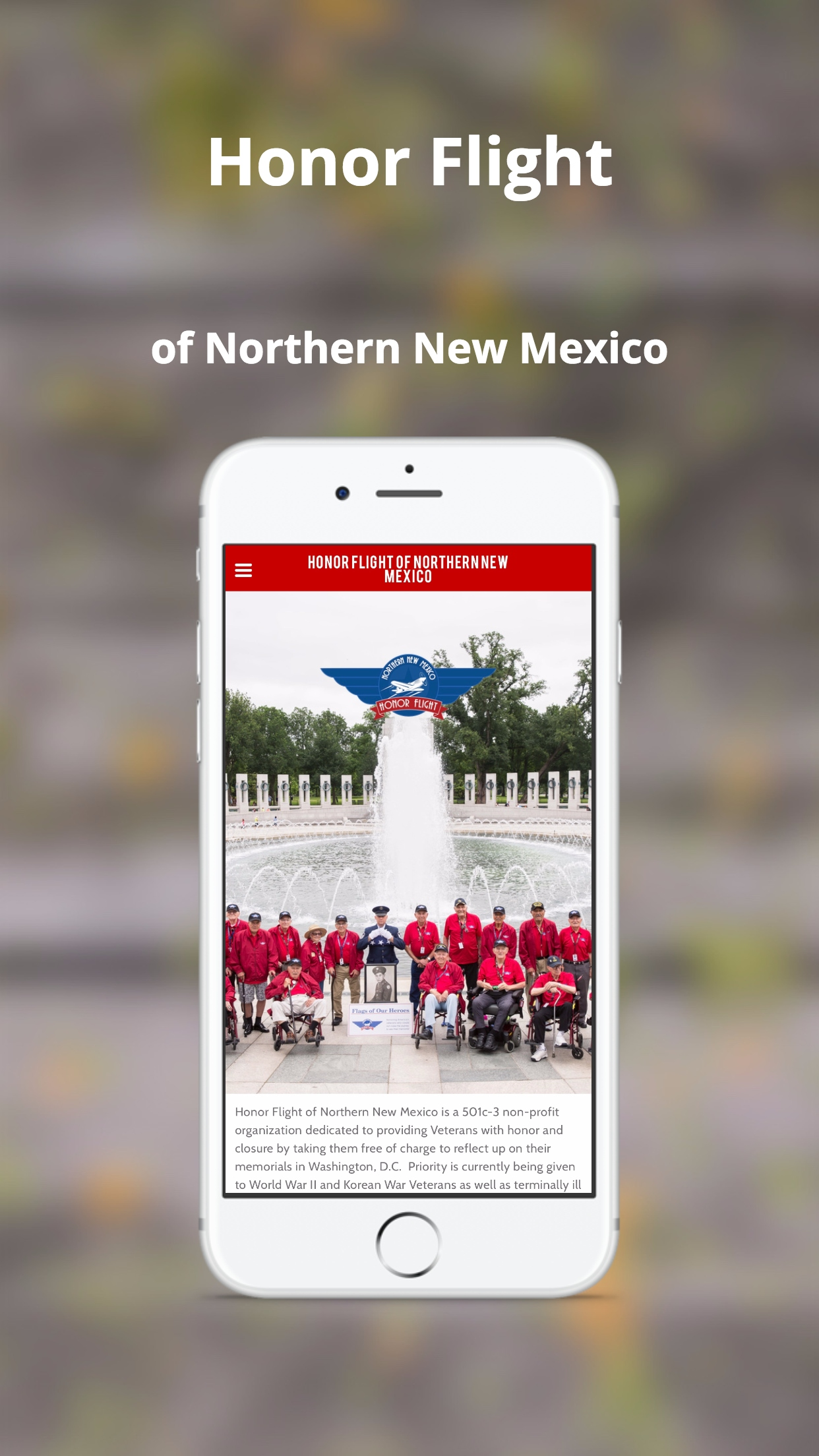 Honor Flight of Northern New Mexico (iPhone)