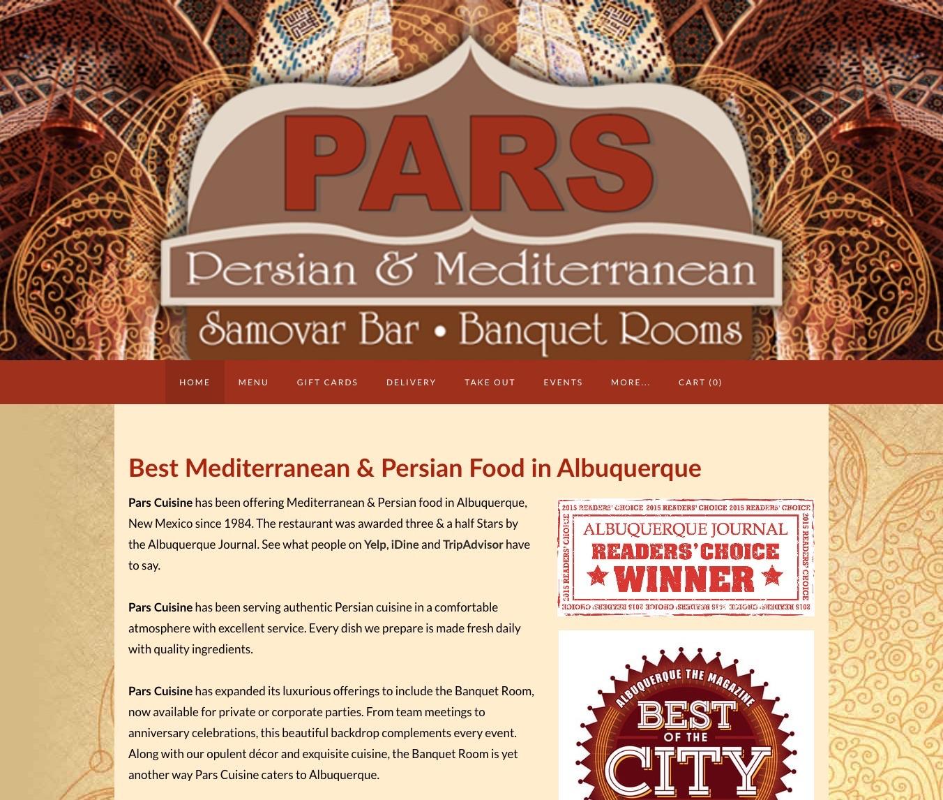 Pars Cuisine —Best Mediterranean & Persian Food in Albuquerque