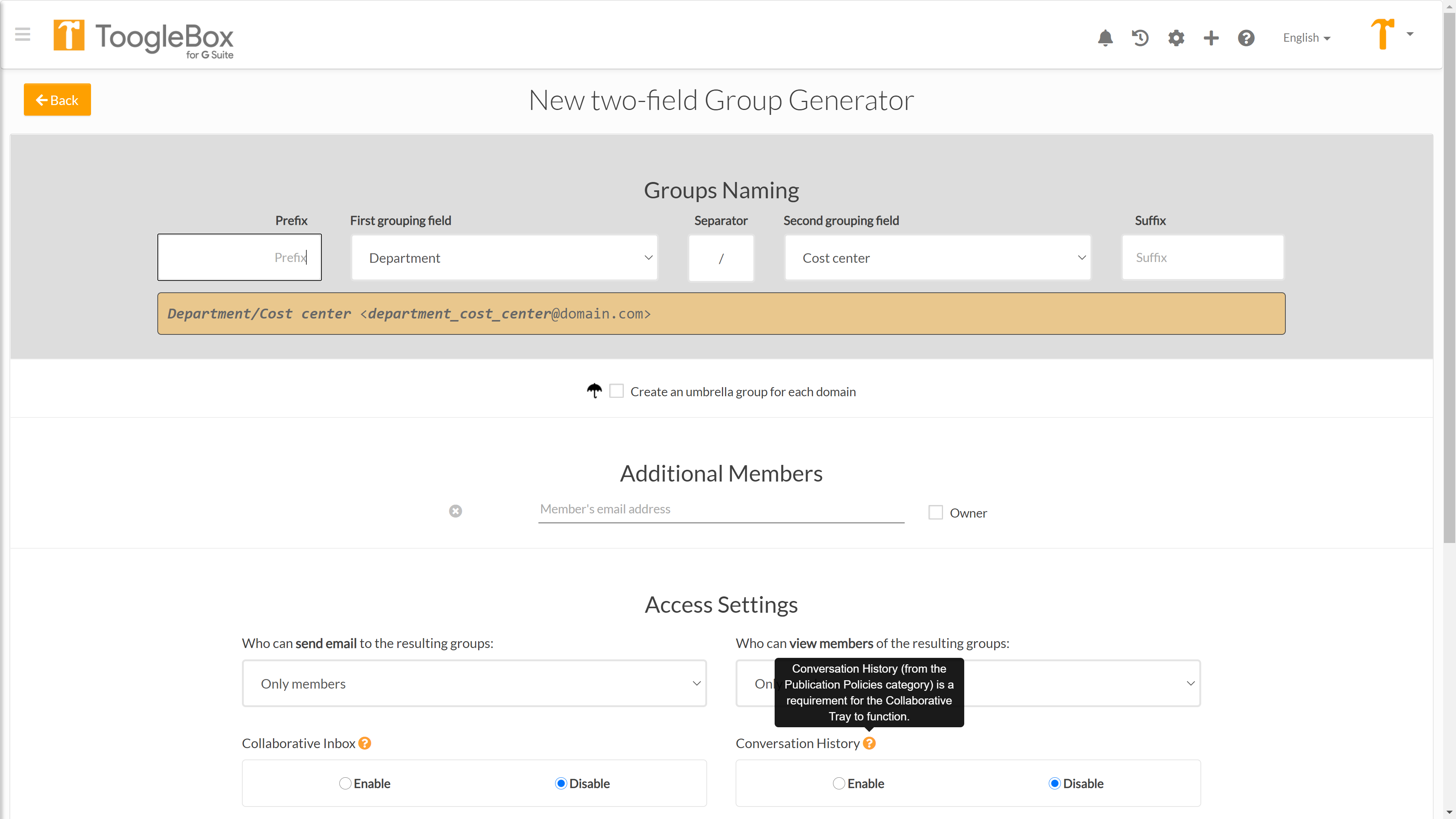 Creating Dynamic Group; Distribution Lists