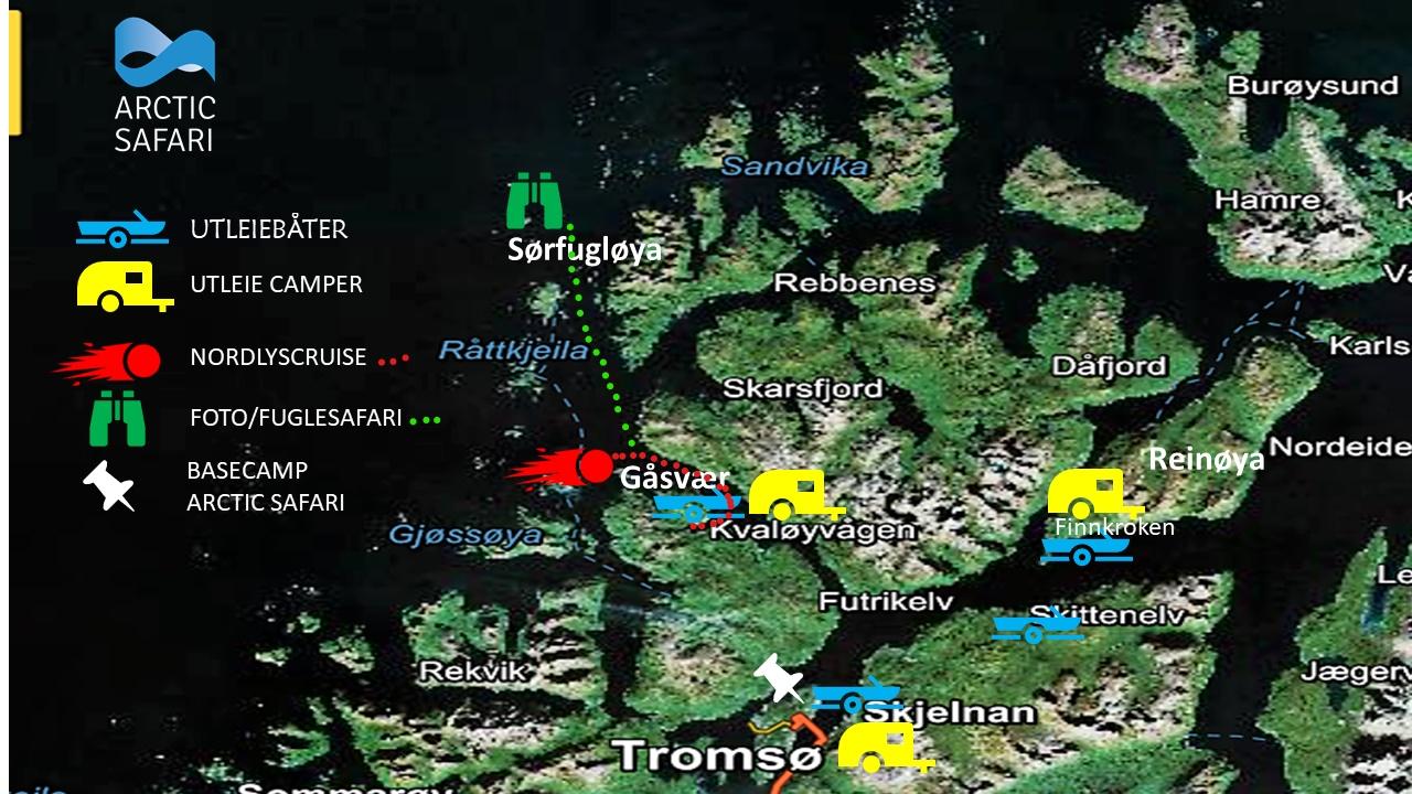 Karte von Troms