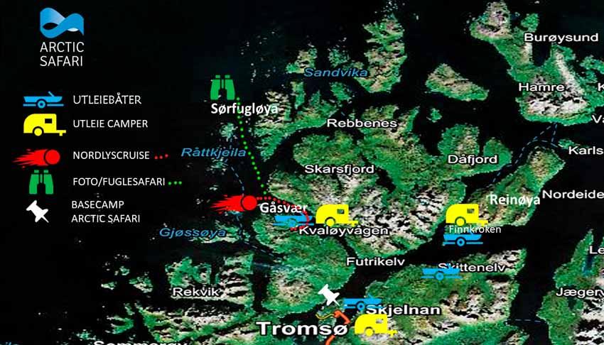 Kart over Troms