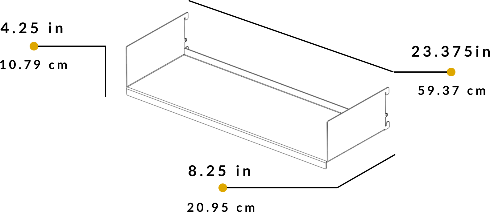 shelf dimensions