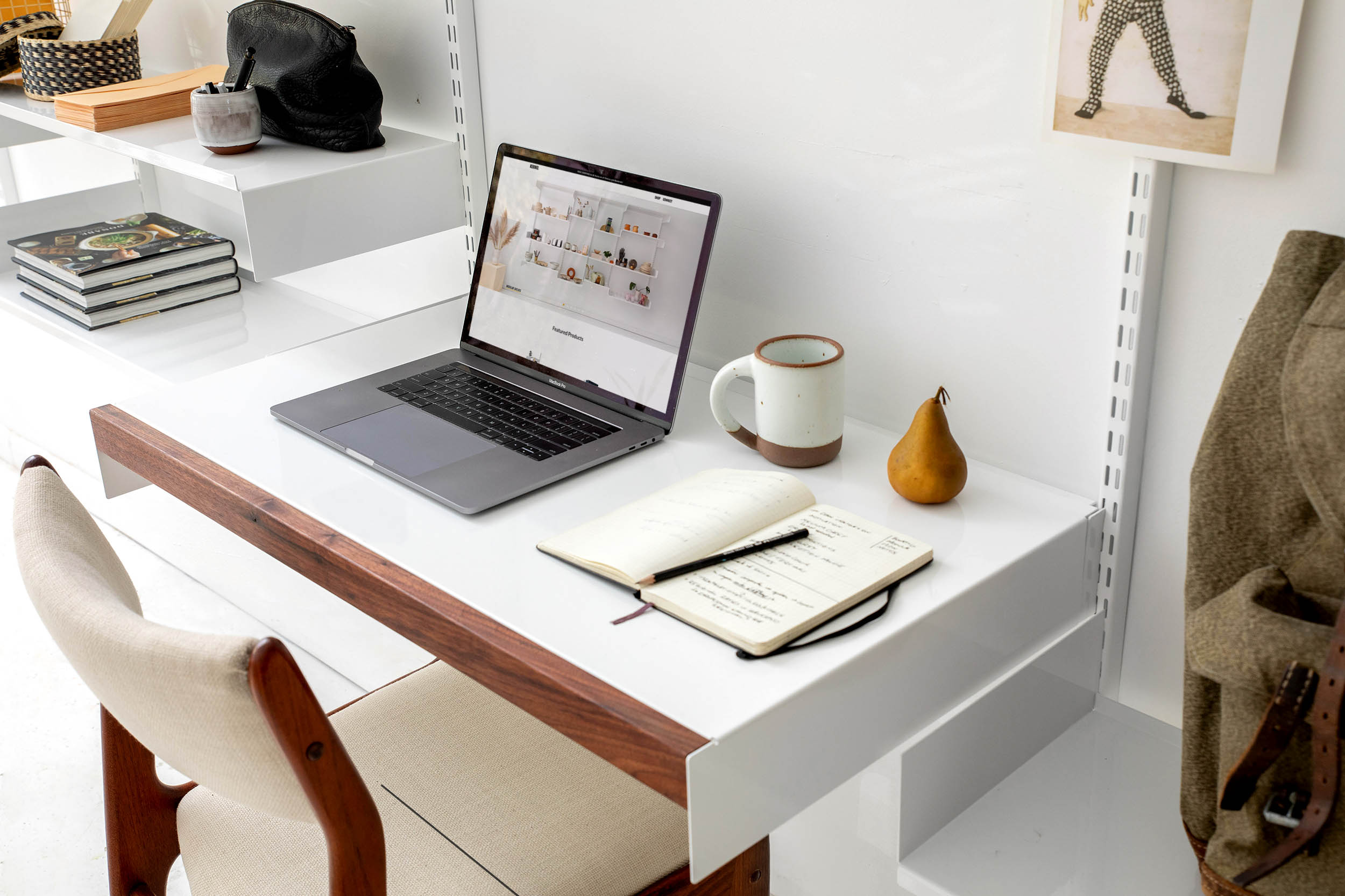 Adjustable Desk in industrial Loft