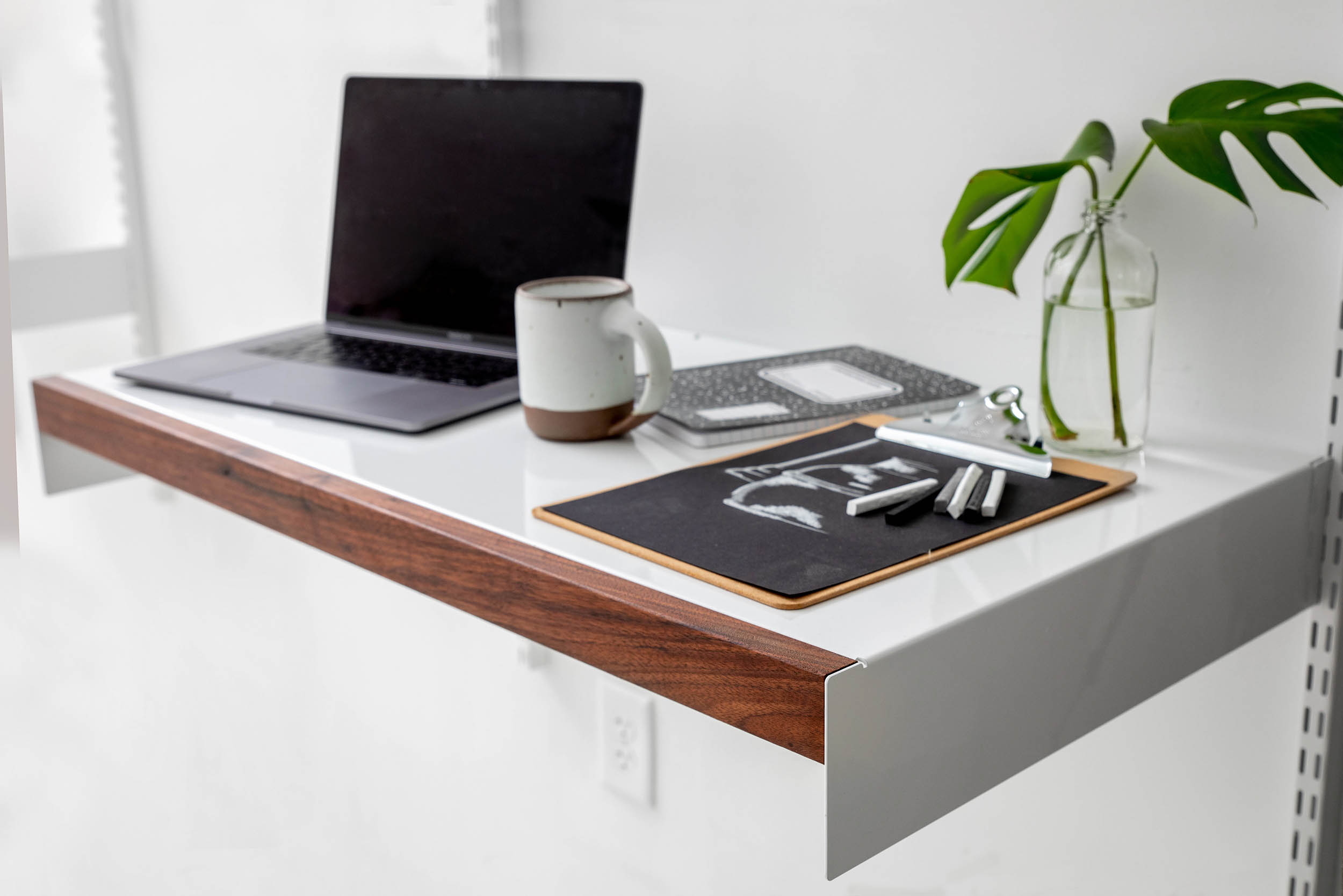 Adjustable Desk with walnut wood