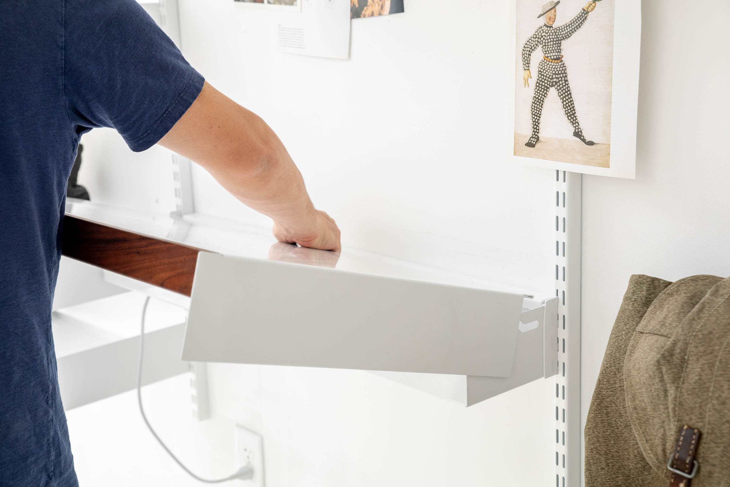Adjustable Desk with Grcic stool one
