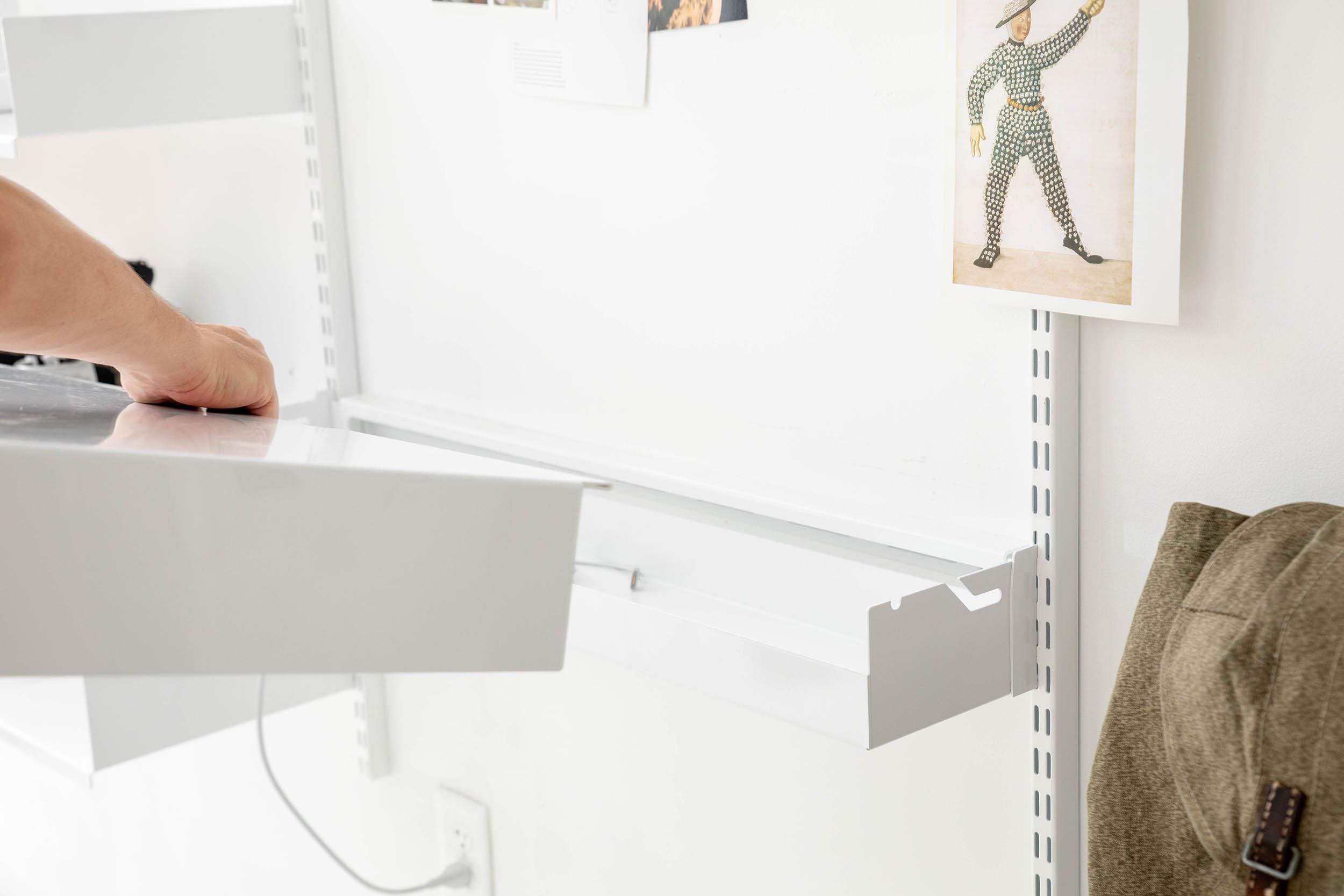 Adjustable desk in studio