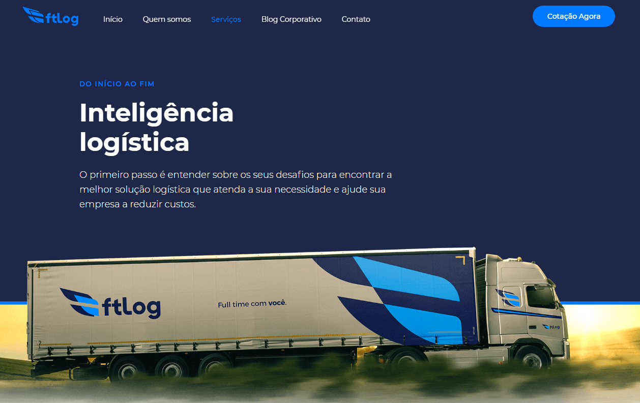 site para transportadoras FT Log