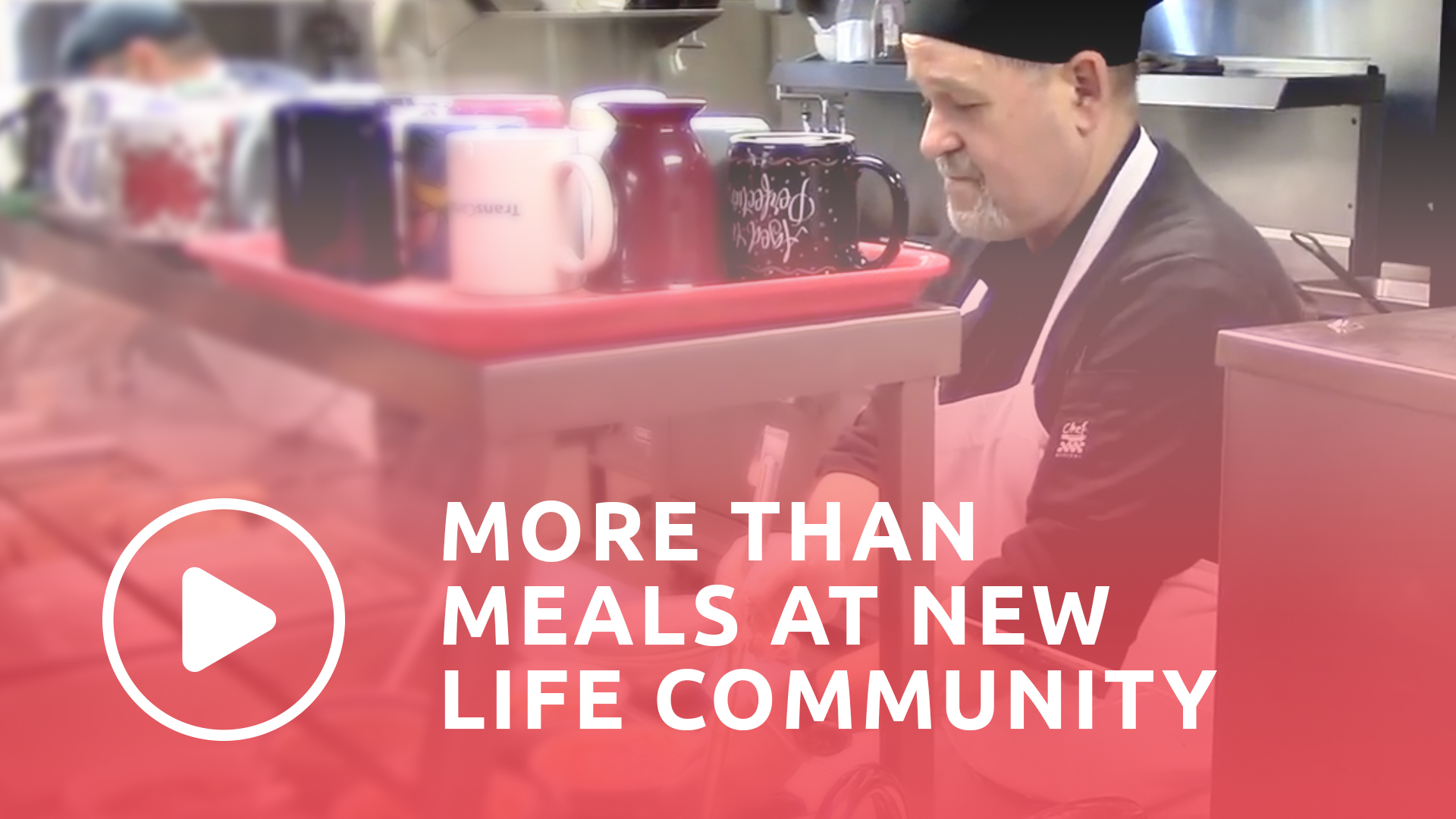 Watch video more than meals at new life community.