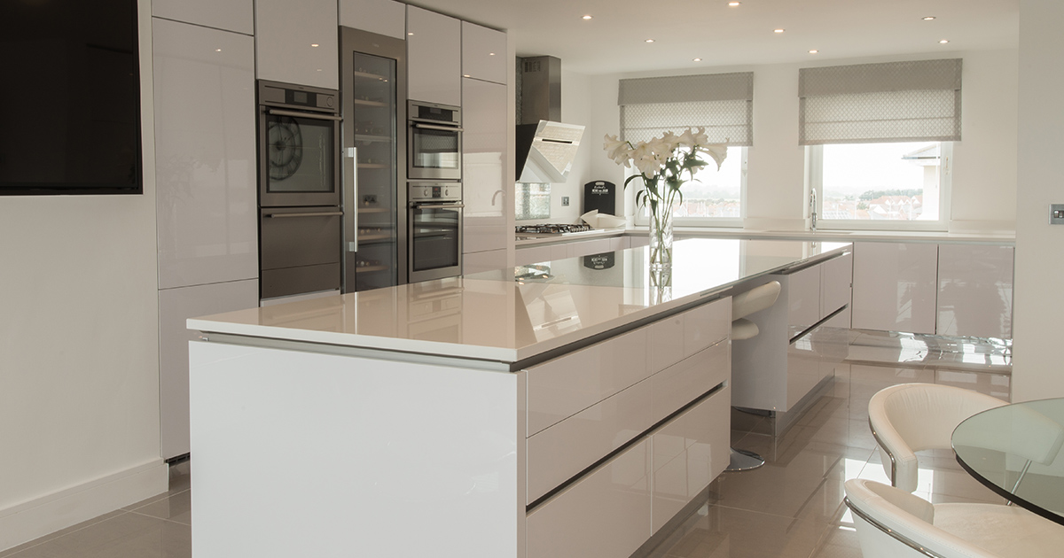 Interior of a Modern Kitchen with an Island
