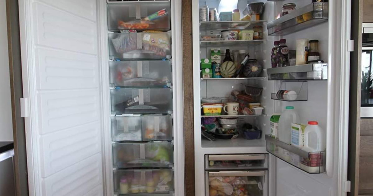 Inside of a Fridge Freezer