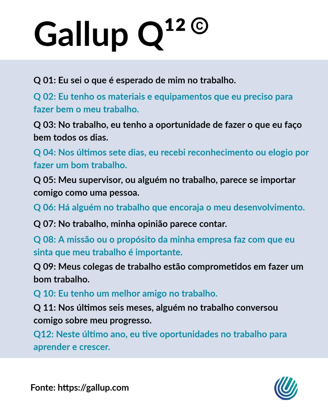 Questionario Gallup Q12