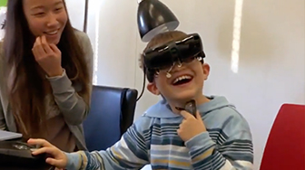 Boy Tears Up After Special Glasses Allow Him To See Mom's Face For 1st Time