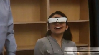 Legally blind teen sees parents' faces with new technology
