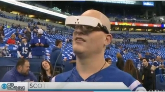 Legally Blind Fan Sees Indianapolis Colts For The First Time