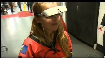 Legally Blind Girl Sees Her Calgary Flames For The First Time