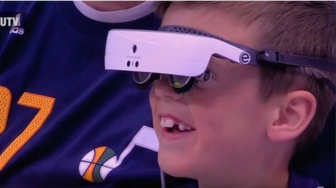 Blind Utah Jazz fan sees game for first time with eSight