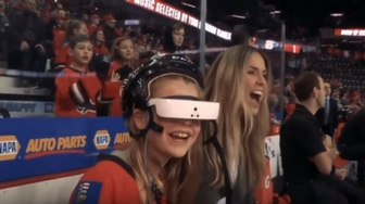 Legally Blind Calgary Flames Fan Gets Experience Of A Lifetime (Flames TV)