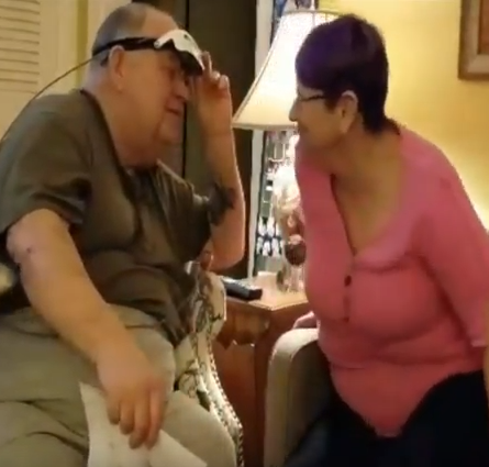 Legally Blind Man Sees His Wife for First Time in 20 Years