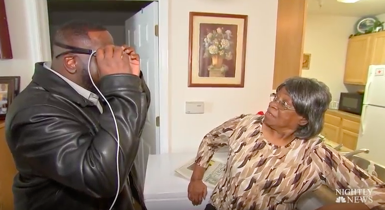 Legally Blind Father Sees His Family Clearly For The First Time In 33 Years