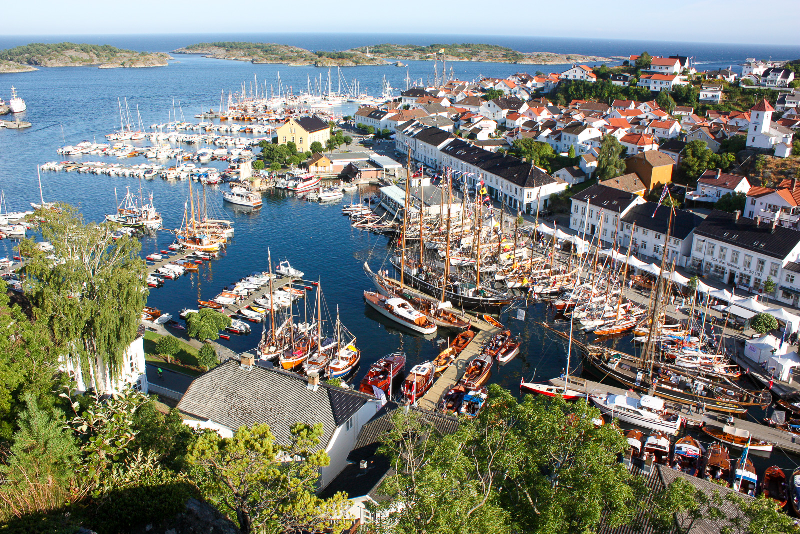 View of Risør harbour