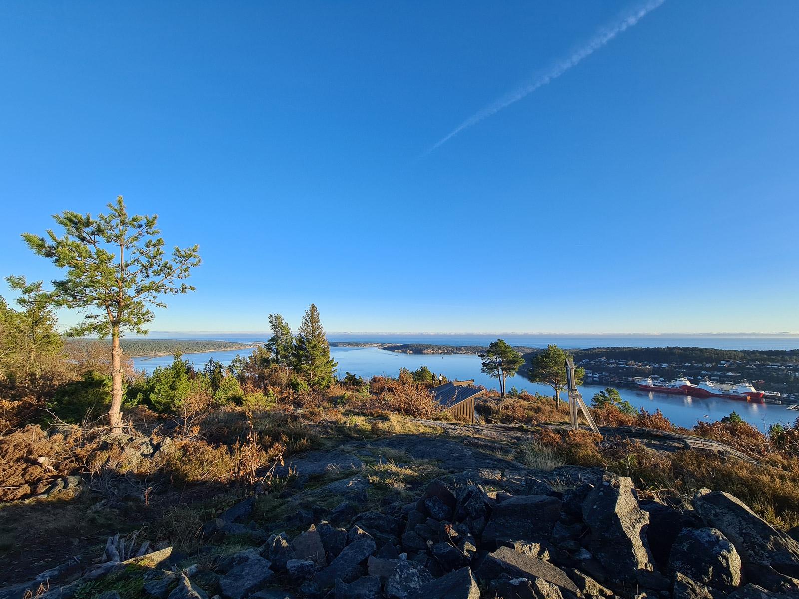 Utsikt fra Vaktuhusheia