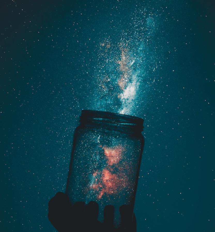 milky-way behind jar