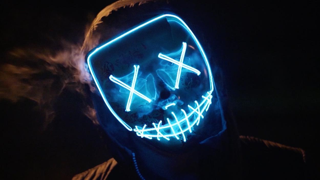 glow neon mask