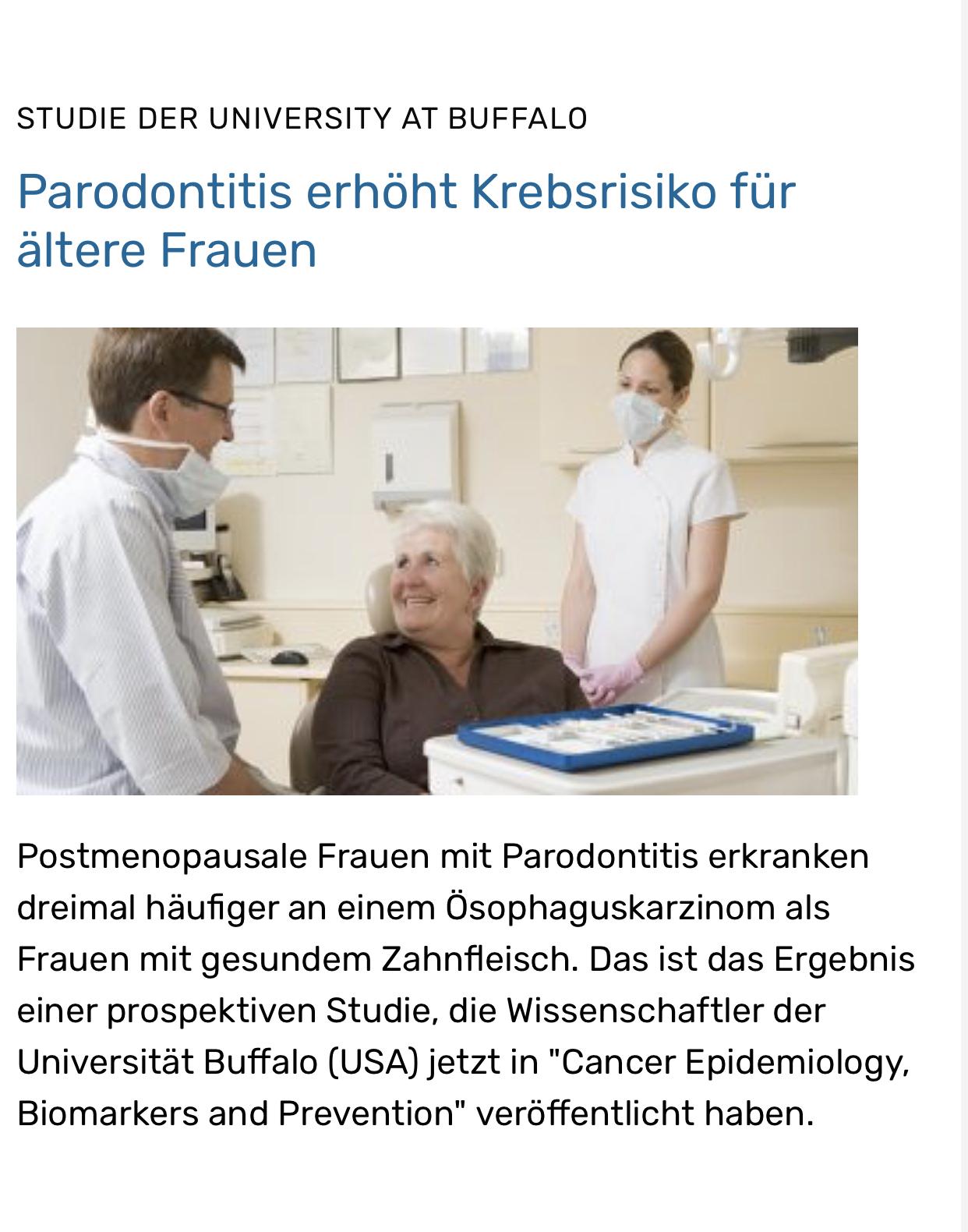 Krebs und parodontale Erkrankungen