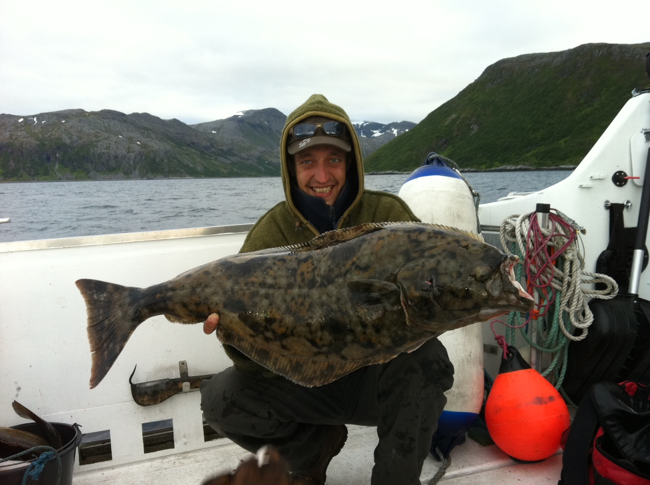 Guided hunting for big halibut