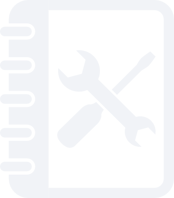An icon of a journal with a flat-head screw driver and a monkey wrench.