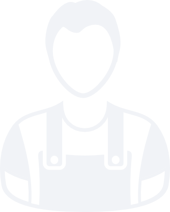 An icon of an out-lined man in overalls.