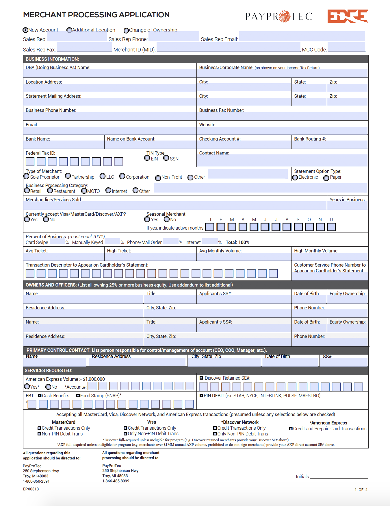 EPX TBB EDGE Application