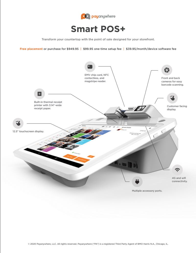 Payanywhere Sell Sheet Smart POS+ (Editable)