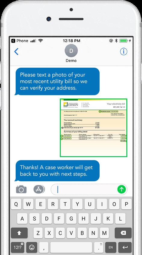 Document upload and verification via mobile message