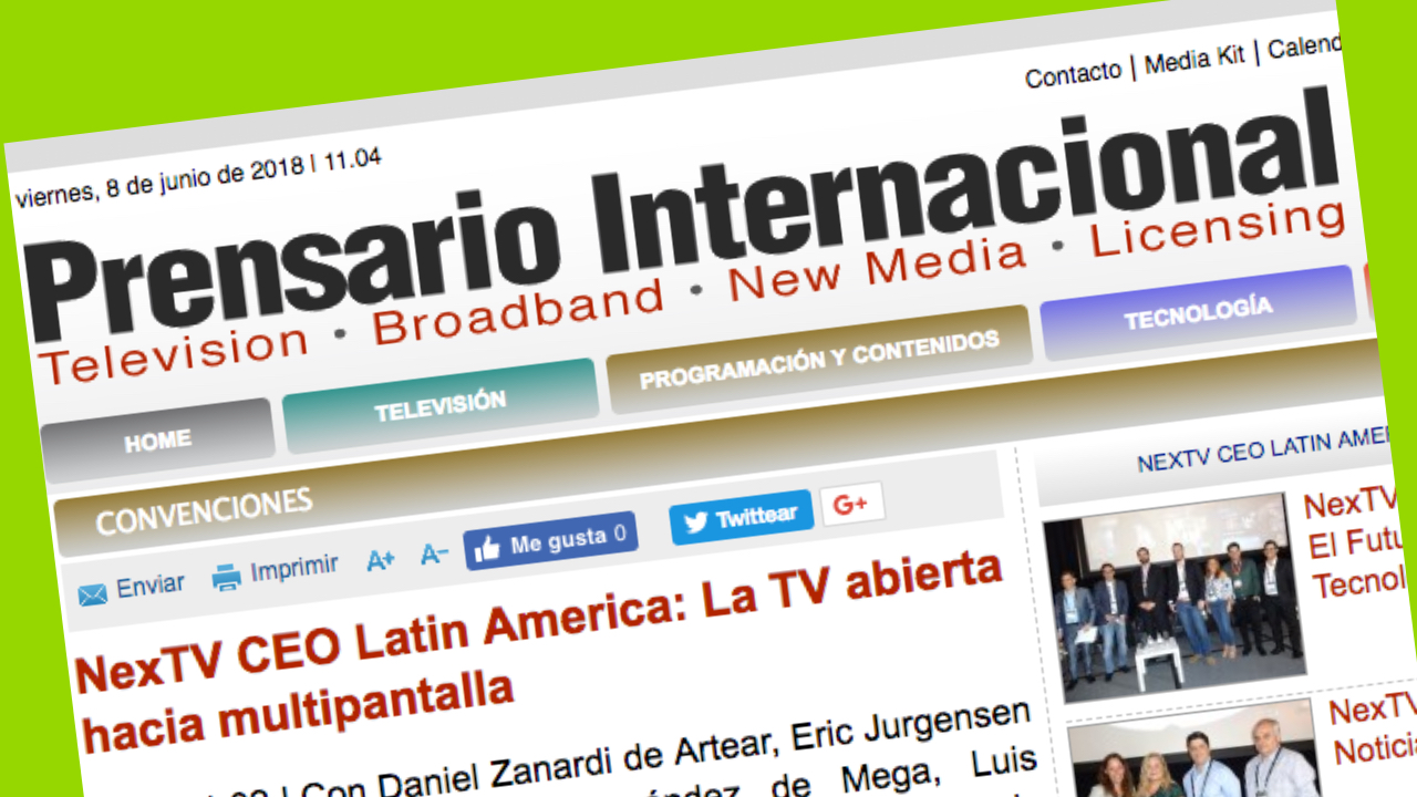 Next Tv CEO Latinoamérica