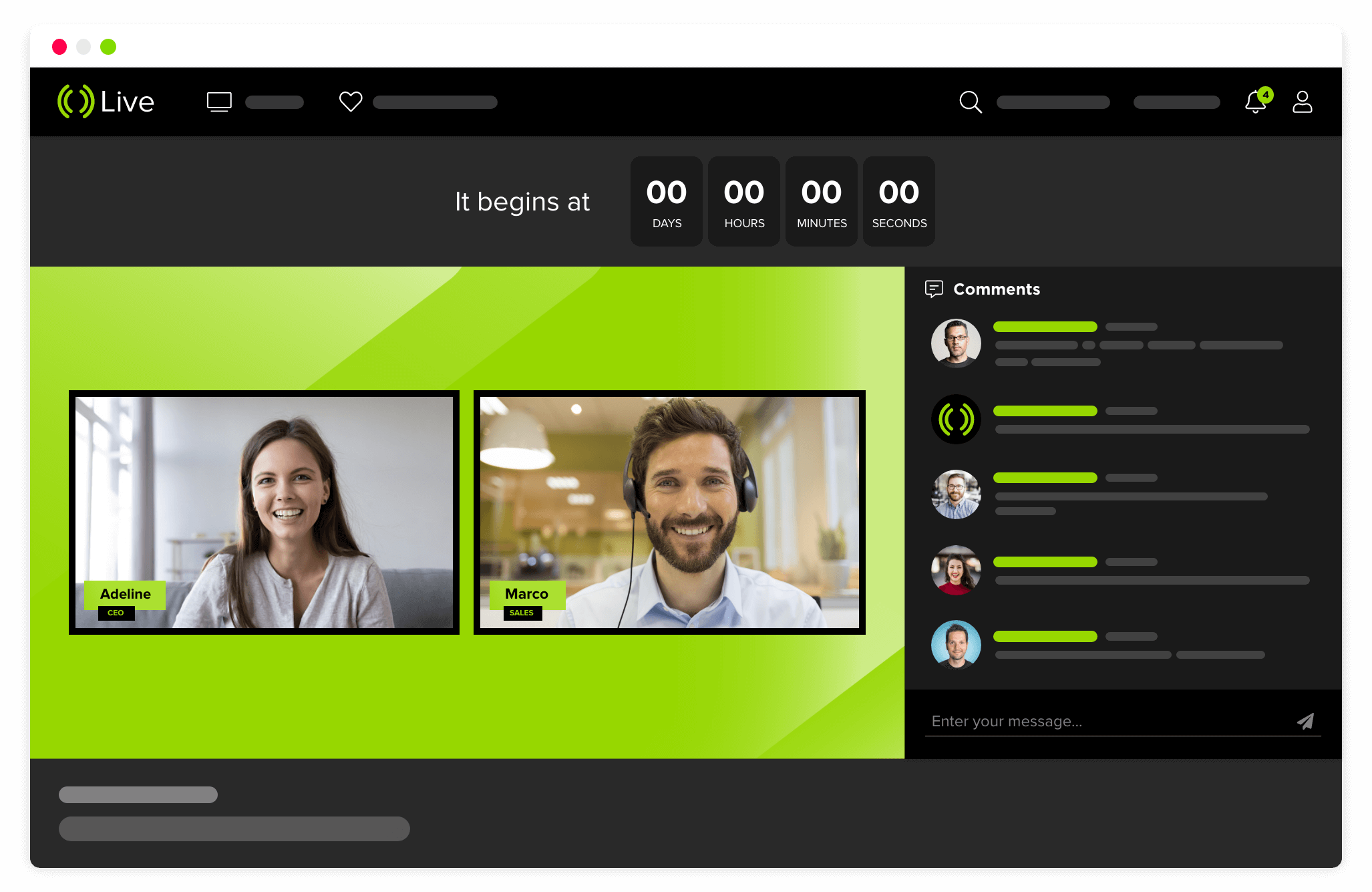 Mediastream Live Streaming transmisión de eventos en vivo