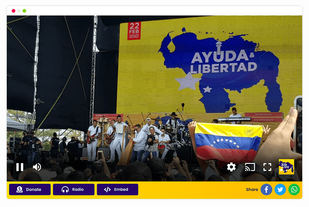 Venezuela Aid Live – Streaming Mediastream
