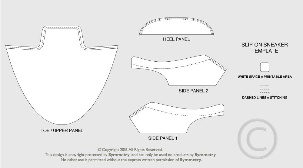 slip-on sneaker template