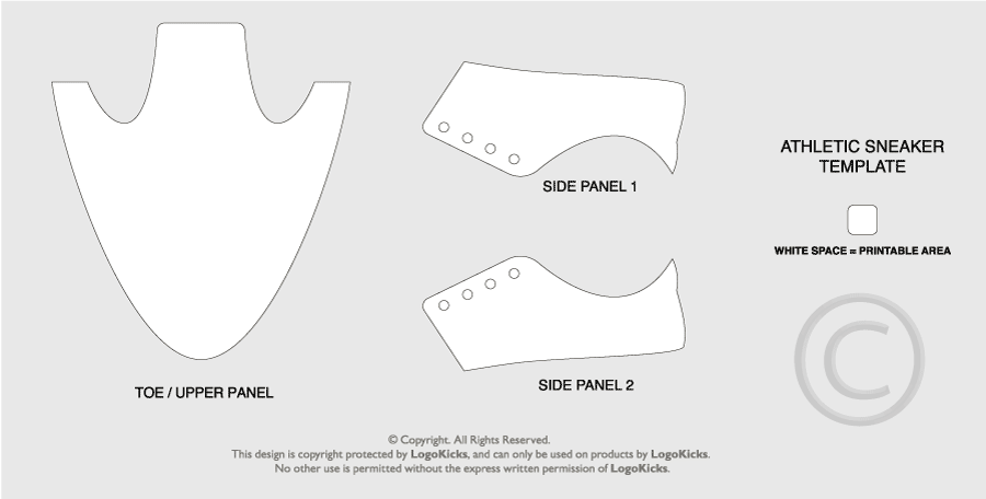 laced sneaker template