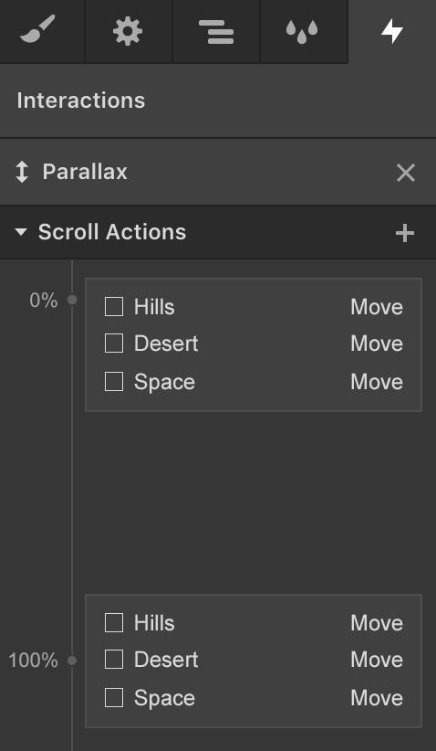 Parallax movement panel Website Design Spring and Conroe Texas