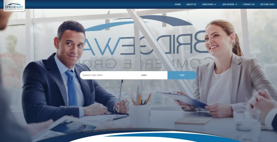 Bridgeway Website Desktop for SEO in The Woodlands