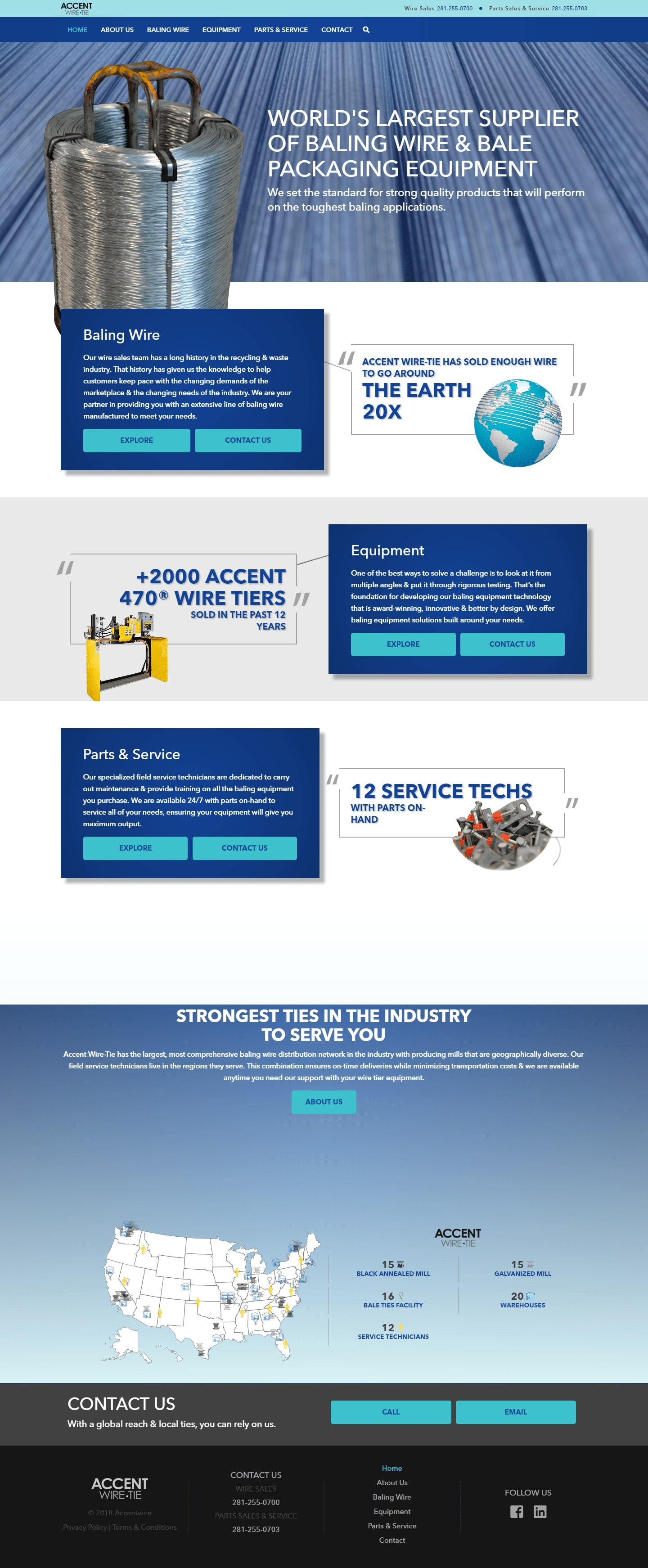 Accent The Woodlands Web Design Page