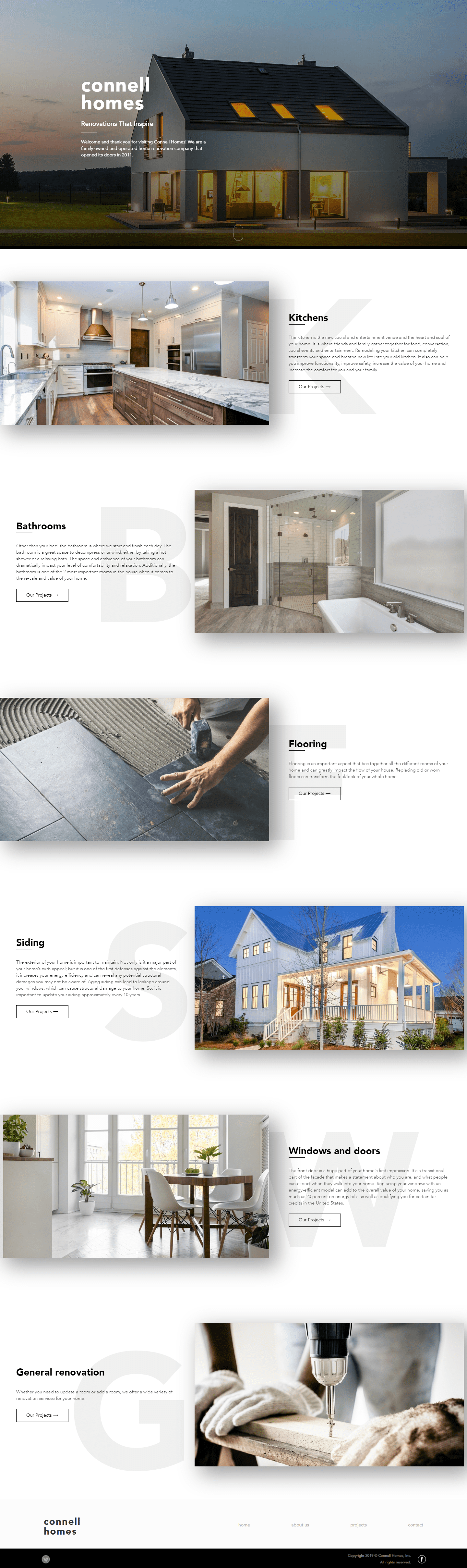Connell Homes The Woodlands Web Design Page