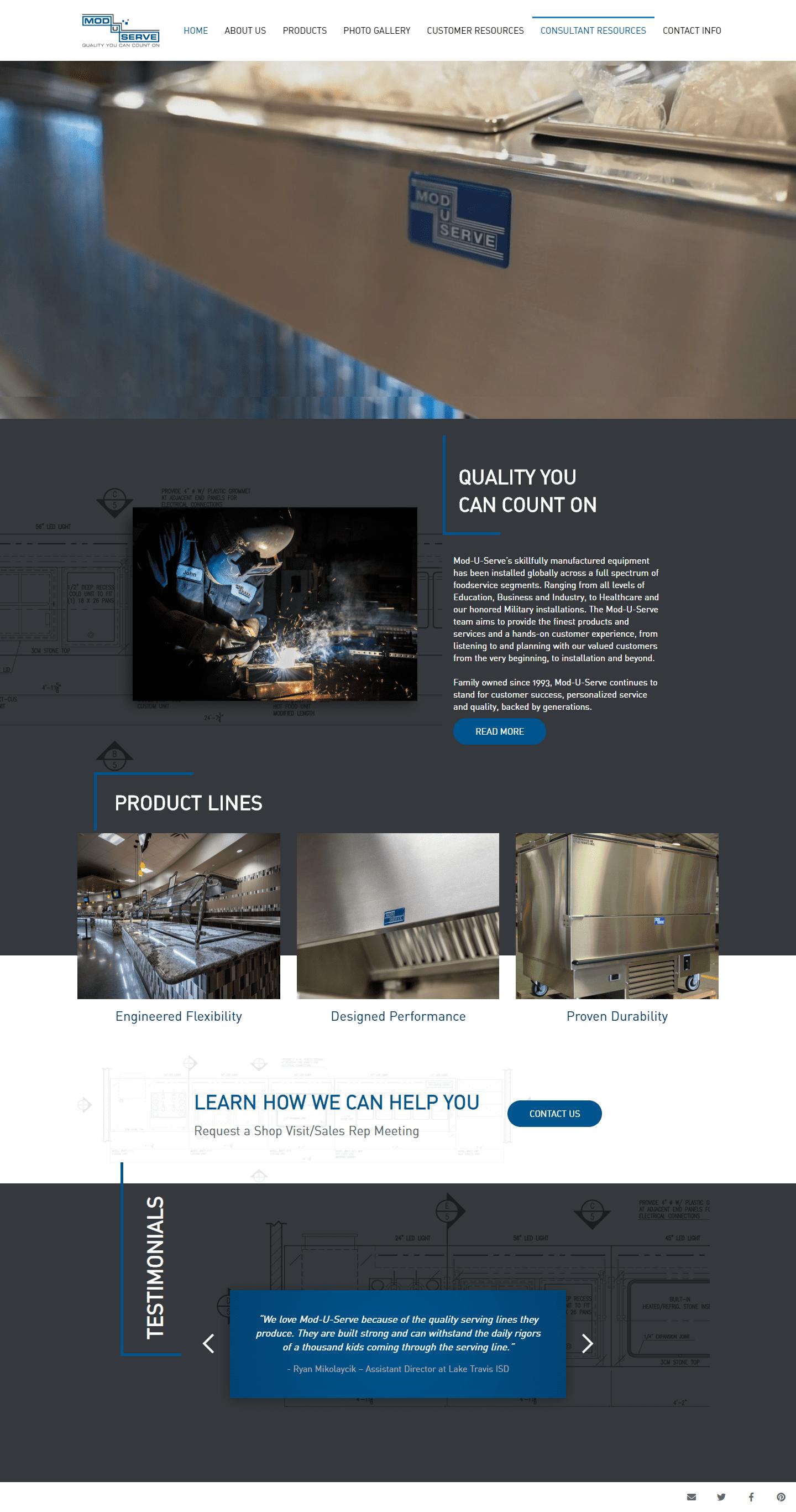 Mod-U-Serve The Woodlands Web Design Page