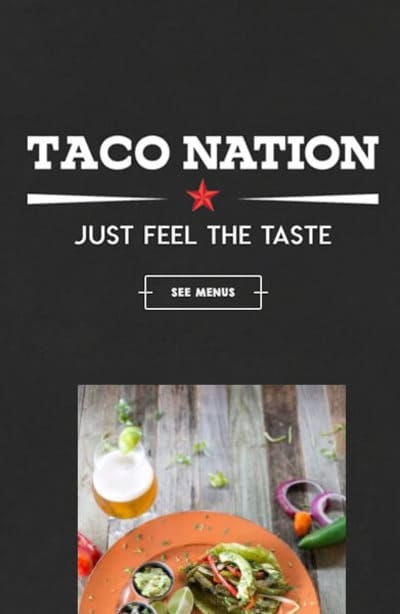 Taco Nation Mobile The Woodlands Web Design Page