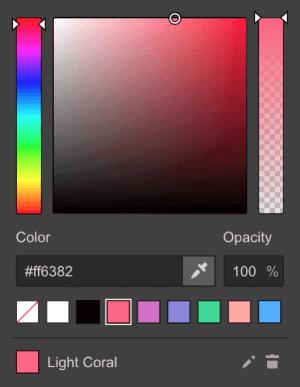 Color pallet div block in web design the woodlands