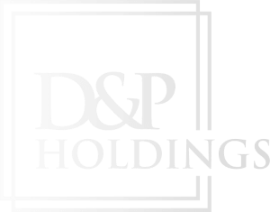 D&P Down Arrow White Logo Design in The Woodlands